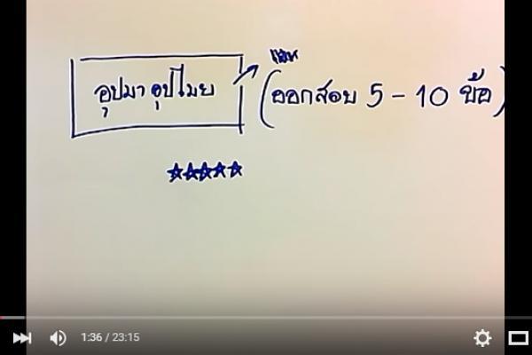 คลิปข้อสอบภาค ก 80 ข้อ (04-ข้อสอบอุปมาอุปไมย) แนวข้อสอบ ภาค ก 2559