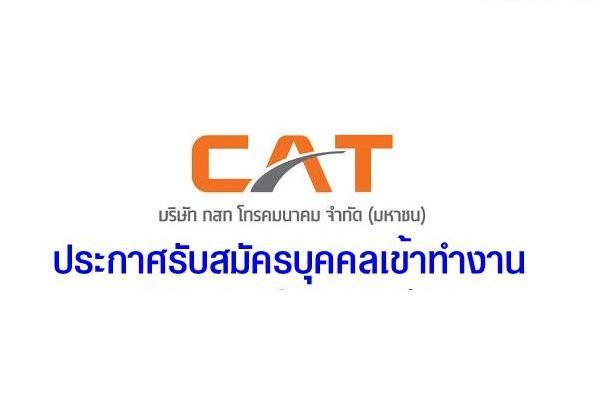บริษัท กสท โทรคมนาคม จำกัด (มหาชน) รับสมัครบุคคลเพื่อบรรจุเข้าทำงาน ตั้งแต่วันที่ 1 - 15 กุมภาพันธ์ 2562