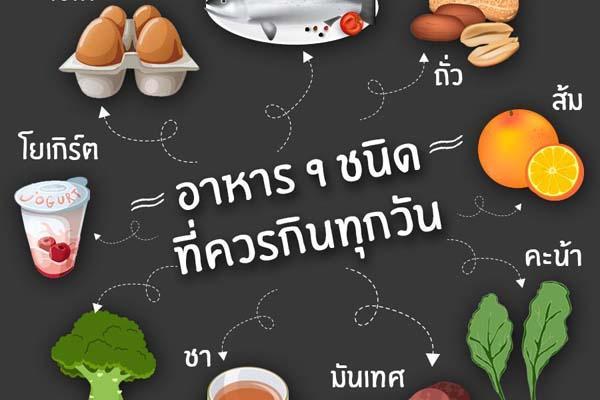 น่ารู้ อาหาร 9 ชนิด ที่ควรกินทุกวัน! เพื่อสุขภาพดีห่างไกลโรค