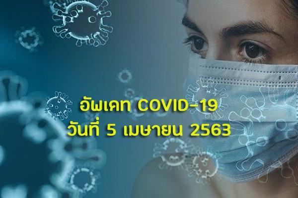 อัพเดท COVID19 วันที่ 5 เมษายน 2563 ในประเทศไทย ผู้ติดเชื้อรายใหม่ยังเพิ่มขึ้น!!!!!