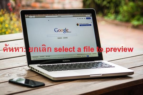 วิธี ยกเลิก select a file to preview