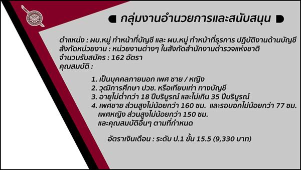 สำนักงานตำรวจแห่งชาติ รับสมัครสอบแข่งขันบุคคลเข้ารับราชการ 521 อัตรา